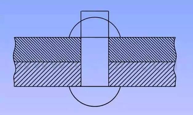 钢结构钢板的铆接画法