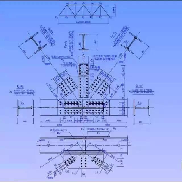 钢结构设计轮廓图