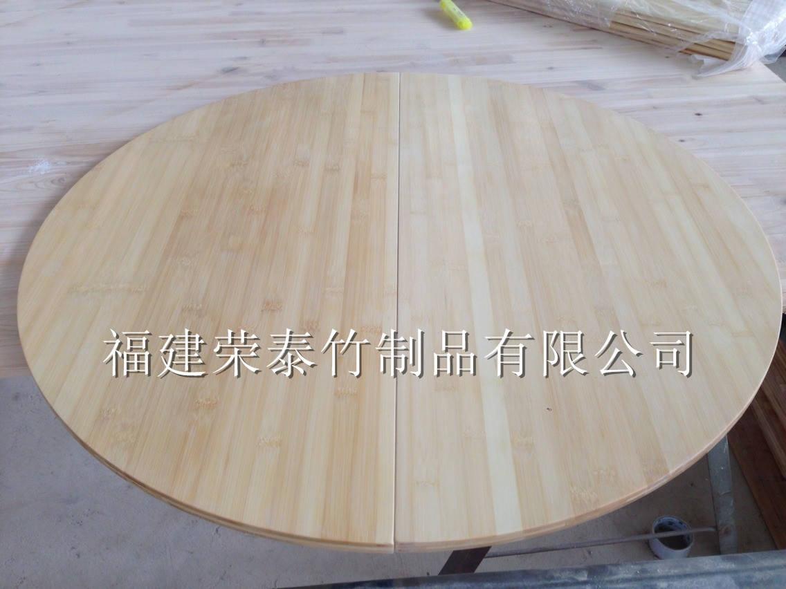 本色竹制圆形桌面板