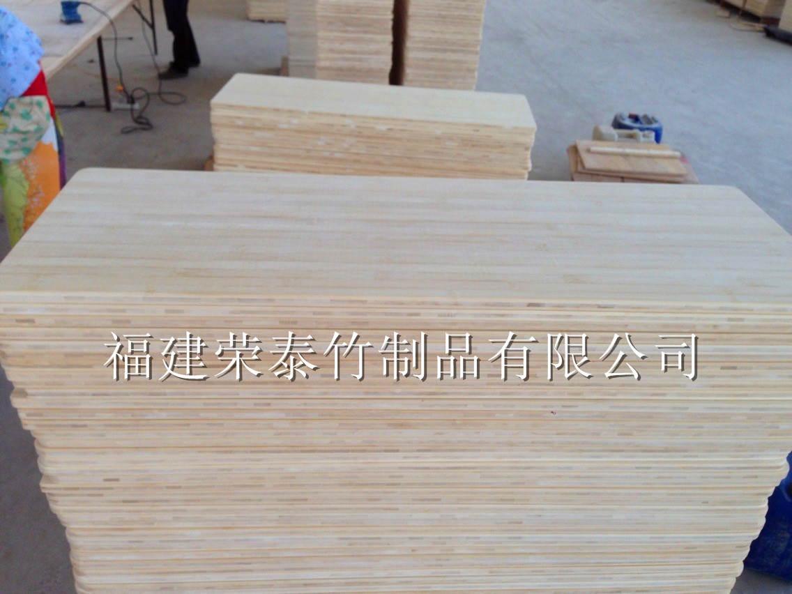 长形竹桌面