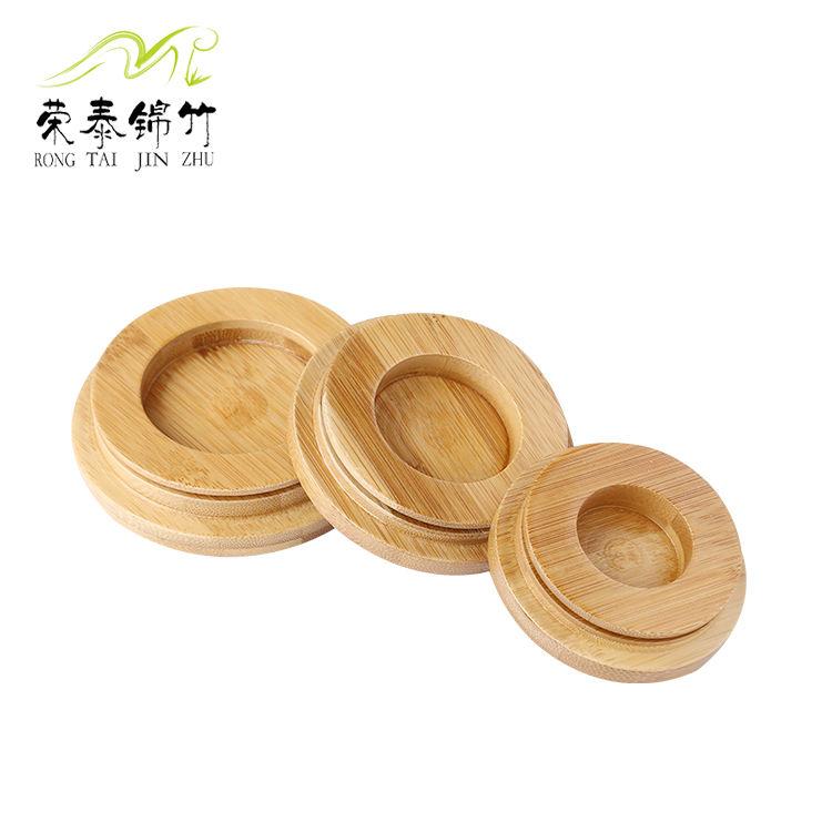 厂家直销 碳化竹盖子 优质天然密封盖 玻璃杯盖 工厂加工生产