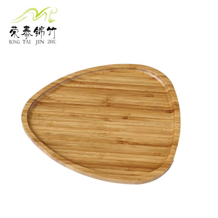厂家供应心形竹制餐盘 托盘 水果盘