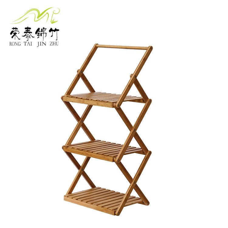 厂家直销 吊式三层德赢vwin客户端 竹折叠架 花架